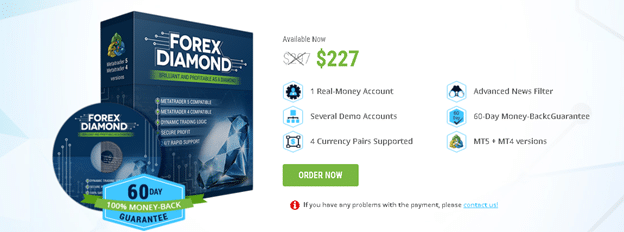 Pricing details of Forex Diamond