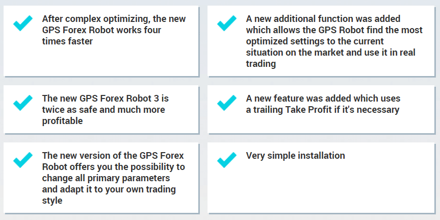GPS Forex Robot's features