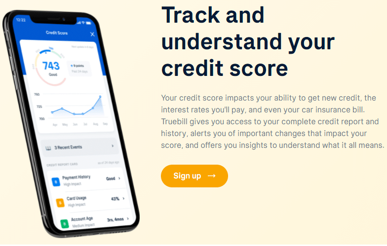 text: Track and understand your credit score