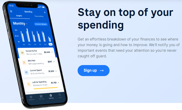 text: Stay on top of your spending